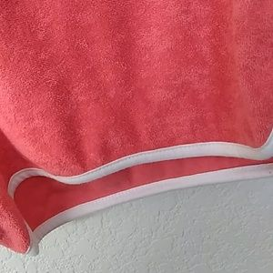 Shorts - Orange and white terry cloth shorts